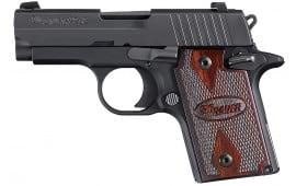 "Sig Sauer 938M9BRGAMBI P938 Nitron *MA Compliant* Single 9mm 3"" 7+1 Black Rubber Grip"