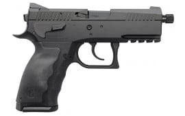"Sphinx WWSXXE018 Sphinx DA/SA 9mm 3.7"" 15+1 Black Interchangeable Backstrap Grip Black PVD Coated"