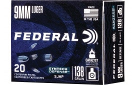 Federal AE9SJT1 9mm 138 SJHP - 20rd Box