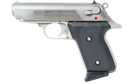 "Excel AT38101 Accu-Tek AT-380 II Single 380 ACP 2.8"" 6+1 Black Synthetic Grip SS"