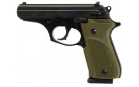 "Bersa T380PMC Thunder 380 Combat Plus DA/SA 380 ACP 3.5"" 15+1 OD Green Rubber Grip Black"