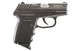 """SCCY CPX3CB CPX-3 Double 380 ACP 2.96"""" 10+1 Black Polymer Grip/Frame Grip Black Nitride Stainless Steel"""