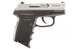 """SCCY CPX3TT CPX-3 Double 380 ACP 2.96"""" 10+1 Black Polymer Grip/Frame Grip Stainless Steel"""
