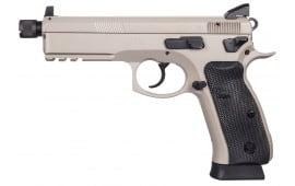"CZ 91253 SP-01 Tactical DA/SA 9mm 5.2"" 18+1 Black Rubber Grip Gray"