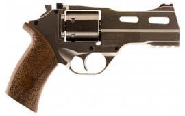 "Chiappa 340245 Rhino 40SAR *CA Compliant* Single 357 Magnum 4"" 6rd Walnut Chrome Stainless Steel"