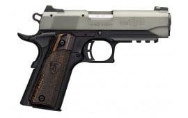 "Browning 051850490 1911-22 Black Label Gray Compact Single 22 LR 3.75"" 10+1 Black Composite Grip"