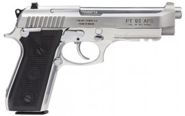 """Taurus 192015917 92 9mm 5"""" 17+1 FSBlack Poly Grip Stainless"""