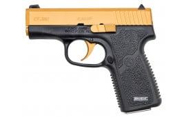 """Kahr Arms CT3833CG CT380 Gold Cerakote DAO 380 ACP 3"""" 7+1 Black Polymer Grip/Frame Gold Cerakote"""