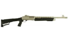 "Dickinson XX3DM2 Defense Pump 12GA 20"" 3"" 5+1 Synthetic Adjustable w/Pistol Grip Black Silver Marinecote"