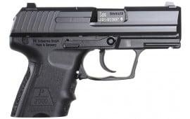 "HK 709302A5 P2000SK *CA MA Comp* V2 LEM DAO 9mm 3.26"" 10+1 Poly Grip Black"