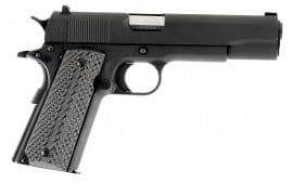 "Llama LM138SB 1911 Max-I Single 38 Super 5"" 8+1 Hardwood w/MAC Logo Grip Matte Blued"