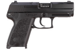 "HK 704531A5 USP45 Compact CA Comp DA/SA 45 ACP 3.8"" 8+1 Black Synthetic Grip Blued"