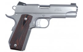 """Ed Brown ECSS Executive Carry Single 45 ACP 4.25"""" 7+1 Laminate Wood Grip Stainless"""