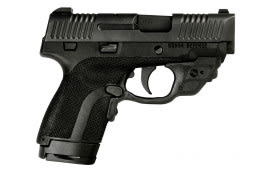 "Honor Defense HG9SCCT Honor Guard Sub-Compact Double 9mm +P 3.2"" 7+1/8+1 CT Laser Black Polymer Grip Black"