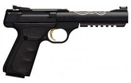"Browning 051525490 Buck Mark Lite UFX Single 22 LR 5.5"" 10+1 Black Ultragrip FX Grip Blued Aluminum"