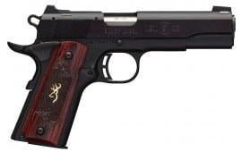 "Browning 051851490 1911-22 Single 22 LR 4.25"" 10+1 Rosewood Grip Black Stainless Steel"