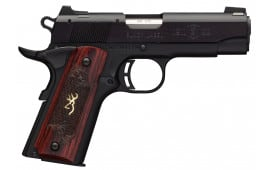 "Browning 051852490 1911-22 Compact Single 22 LR 3.62"" 10+1 Rosewood Grip Black Stainless Steel"