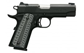 "Browning 051910492 1911-380 Single 380 ACP 3.62"" 8+1 Black/Gray G10 Grip Black Stainless Steel"