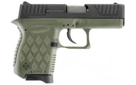 "Diamondback DB9ODG DB9 Double 9mm 3"" 6+1 OD Green Polymer Grip/Frame Grip Black"