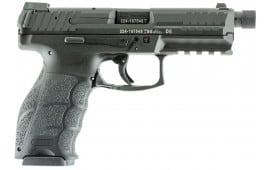 "HK 700009TLELA5 VP9 Tactical Double 9mm 4.7"" TB 10+1 3 Mags NS Black Interchangeable Backstrap Grip Black"