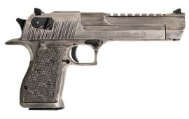 "Magnum Research DE50WMD Desert Eagle Double 50 Action Express (AE) 6"" 7+1 Black G10 Grip White Cerakote"