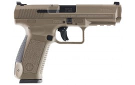 "Century HG4071DN TP9SF Special Forces Double 9mm Luger 4.46"" 10+1 Black Interchangeable Backstrap Desert Tan Polymer Frame Desert Tan Cerakote"