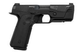 "Hudson HUD001 1911 H9 Single 9mm Luger 4.28"" 15+1 Black Interchangeable Backstrap Grip Black W / 3 Mags"