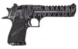 "Magnum Research DE50BTS Desert Eagle Single 50 Action Express (AE) 6"" 7+1 Black Polymer Grip Black/Tiger Stripe"