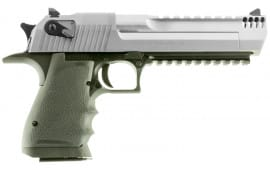 "Magnum Research DE357ASIMB Desert Eagle Single 357 Magnum 6"" 9+1 Black Polymer Grip Stainless Steel"
