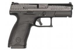 """CZ 91520 P-10 DA/SA 9mm 4"""" 15+1 Black Interchangeable Backstrap Grip Black Nitride"""