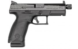 "CZ 91523 P-10 DA/SA 9mm 4.6"" 17+1 Black Interchangeable Backstrap Grip Black Nitride"