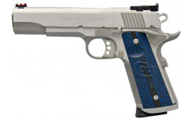 """Colt O5072XE 1911 Single 9mm 5"""" 9+1 Blue G10 Grip Stainless Steel"""
