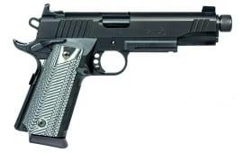 "Remington Firearms 96488 1911 R1 Single 45 ACP 5"" TB 15+1 Black G10 Grip Black Stainless Steel"