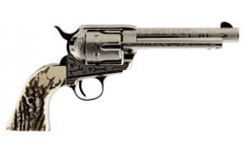 """Taylors and Company OG1407 1873 Cattleman Single 357 Magnum 5.5"""" 6 Ivory Synthetic Nickel"""