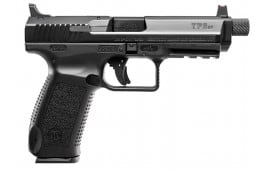 "Century HG4067N TP9SFT Double 9mm Luger 4.9"" TB 18+1 FOF Black Interchangeable Backstrap Grip/Frame Black Cerakote"
