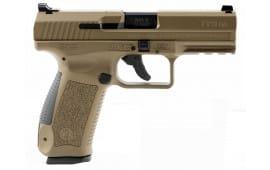 "Century HG4068BN TP9DA DA/SA 9mm Luger 4.07"" 18+1 Black Interchangeable Backstrap Grip Burnt Bronze Polymer Frame Burnt Bronze Cerakote"