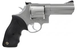 """Taurus 2440049 44 Standard DA/SA 44 Magnum 4"""" 6rd Black Rubber Stainless"""