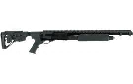 "Hatfield USP12T PAS Pump 12GA 20"" 3"" 4+1 5-Position Adjustable Synthetic w/Pistol Grip Black"