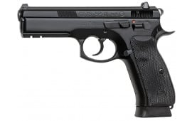"CZ 91153 CZ-75 SP-01 9mm 4.7"" 18+1 w/Decocker NS Rubber Grip Black Finish"