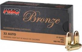 PMC 32A Bronze 32 ACP Target 71 GR FMJ - 50rd Box