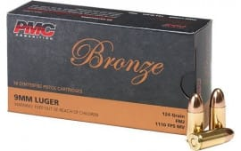 PMC 9G Bronze 9mm Full Metal Jacket 124 GR - 50 Round Box