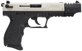 "Walther Arms P22 22LR Pistol, 5"" Nickel Target - 5120326"