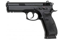 "CZ 91153 CZ-75 SP-01 9mm 4.7"" 18+1 w/Decocker NS Rubber Grip Black Finish"