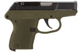 "Kel-Tec P3ATBGRN P-3AT 380 ACP Double 380 ACP 2.7"" 6+1 Green Polymer Grip Blued"