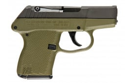 "Kel-Tec P3ATPKGRN P-3AT 380 ACP Double 380 ACP 2.7"" 6+1 Green Polymer Grip Black Parkerized"