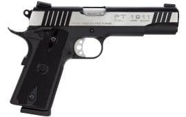 "Taurus 1191101DT 1911 Standard 45 ACP 5"" 8+1 w/Heinie Sight Black Grip 2Tone Slide"