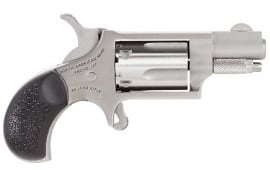 """NAA 22MSGRCHSS 22 Mini Revolver Carry Combo Single 22 WMR 1.13"""" 5 Black Rubber Stainless"""