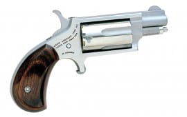 """NAA 22MSC 22 Magazine Rosewood Grip with 22 LR Cylinder Single 22 WMR 1.1"""" 5 Rosewood Stainless"""