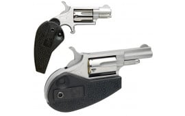 """NAA HGMSC 22 Magazine Holster Grip with 22 LR Cylinder Single 22 WMR 1.1"""" 5 Black Synthetic Holster Stainless"""