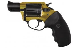 "Charter Arms 53890 Undercover Lite Goldfinger DA/SA 38 Special 2"" 5 Black Rubber Grip Gold/Black"